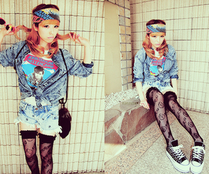 fashion, asian, and gyaru image