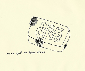 draw, soap, and fight club image