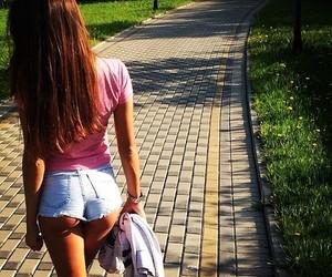 girl, shorts, and dress image