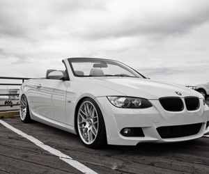 bmw, convertible, and white image