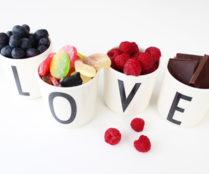 love, chocolate, and fruit image