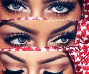 eyes, blue eyes, and make up image