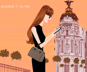 fashion, madrid, and travel image