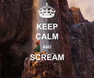 brave, disney, and keep calm image