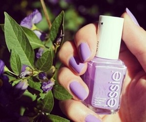 nails, purple, and essie image
