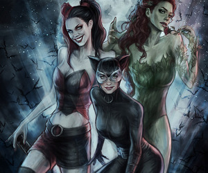 catwoman and harley quinn image