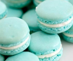 food, macaroons, and blue image