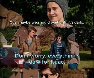 funny, tfios movie, and isaac image
