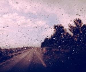 window, rain, and road image