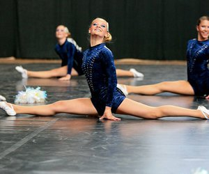 blue, cheer, and dance image