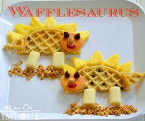 waffles, cute, and wafflesaurus image