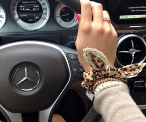 car, girl, and mercedes image