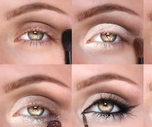 makeup and photoshopped eyes image