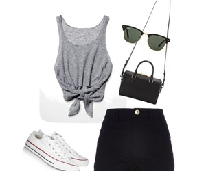 converse, Polyvore, and ray ban image