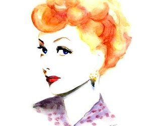 I Love Lucy, illustration, and Lucille Ball image