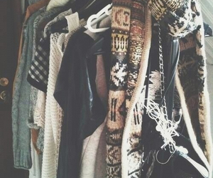 clothes, fashion, and scarf image