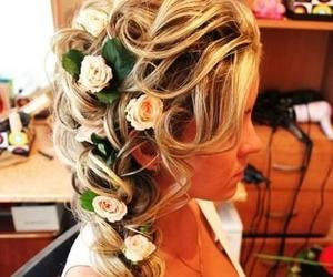 flowers, hair, and hairstyles image