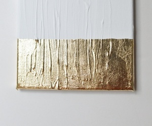 art, gold, and white image
