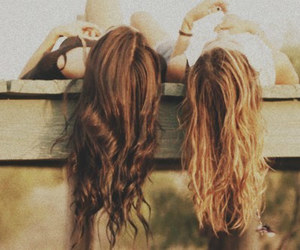 best friends, girl, and hair image