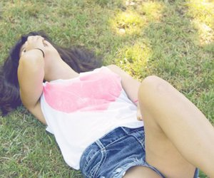 clothes, grass, and girl image