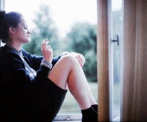beautiful, cigarette, and window image