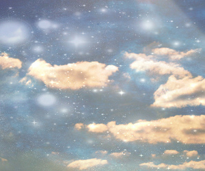 blue, clouds, and heaven image