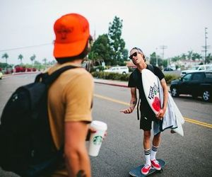 boy, skate, and surf image