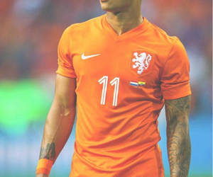 depay, netherlands, and football image