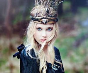 girl, crown, and blonde image