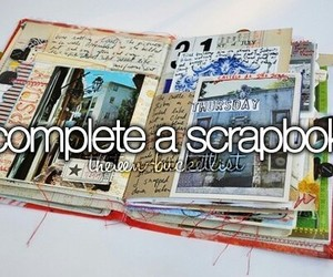 scrapbook, bucket list, and before i die image