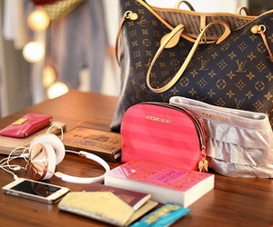 bag, Louis Vuitton, and iphone image