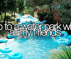friends, summer, and water park image