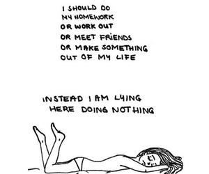 homework, life, and nothing image