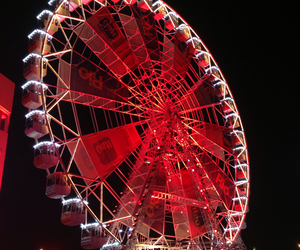 beautiful, lights, and ferris wheel image