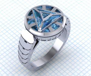 fandom, ring, and iron man image