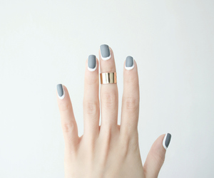 nails, ring, and grey image