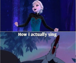 frozen, funny, and sing image