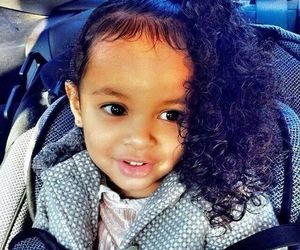 cute, baby, and curly hair image
