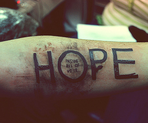 hope, tattoo, and quote image