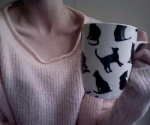 cup, girl, and hipster image