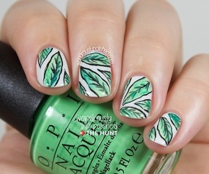 green, white, and nails image