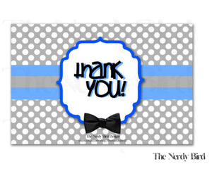 blue, bow tie, and thank you image