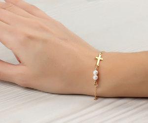 pearl brACELET, wedding, and bridesmaid bracelet image