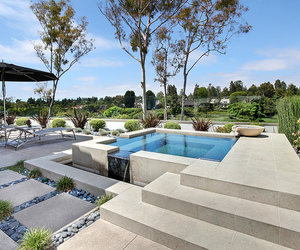 garden, luxury, and pool image