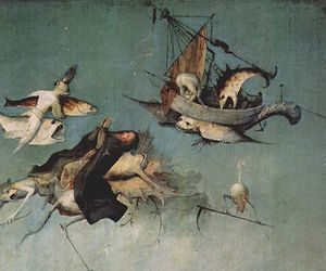 creatures, hieronymus bosch, and fish image