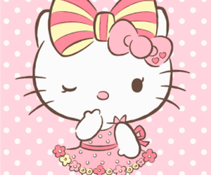 hello kitty, kawaii, and kitty image