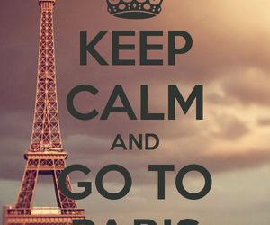 paris, keep calm, and calm image