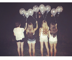 balloons, beautiful, and best friends image