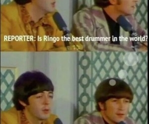 the beatles, john lennon, and funny image