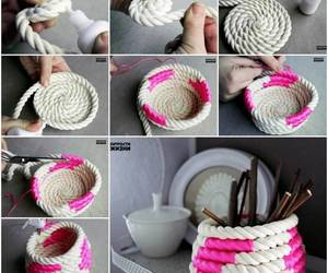 diy, pink, and rope image